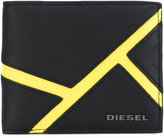 Diesel billfold wallet - men - Calf Leather/Leather/Polyester - One Size