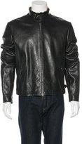 Giorgio Armani Fur-Trimmed Leather Jacket