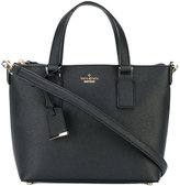 Kate Spade logo plaque tote - women - Leather/Polyester - One Size