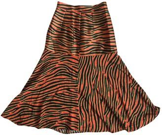 House of Holland Orange Silk Skirt for Women
