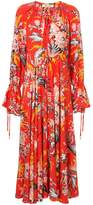 Dvf Diane Von Furstenberg Bethany cinch sleeve maxi dress