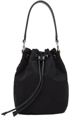 Stella McCartney Black ECONYL Small Bucket Bag