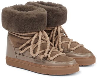 INUIKII Classic suede and leather boots