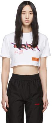 Heron Preston White Cropped Body T-Shirt