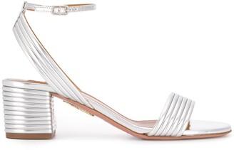 Aquazzura Sundance 50mm metallic sandals