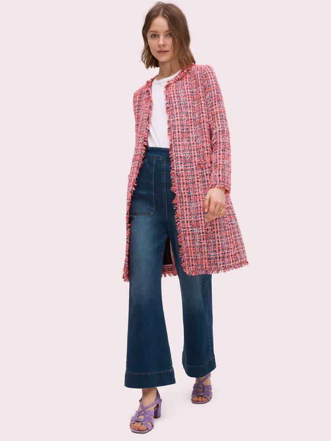 Kate Spade multi tweed coat
