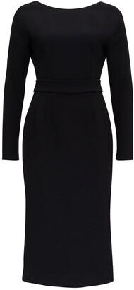 Dolce & Gabbana Open Back Fitted Midi Dress