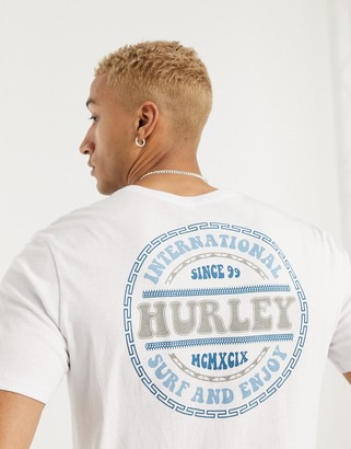 Hurley Groovy t-shirt in white