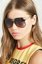 Forever 21 Geometric Aviator Sunglasses