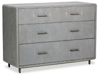 Interlude Calypso 3 Drawers Standard Dresser Color: Gray
