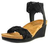 Lucky Brand Kierlo Women Us 5 Black Wedge Sandal.