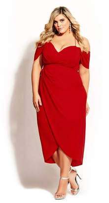 City Chic Entwine Maxi Dress - scarlet