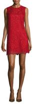 Dolce & Gabbana Lace 3/4 Sleeve Shift Dress