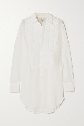 Bottega Veneta Quilted Silk Crepe De Chine Shirt - Ivory