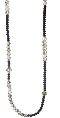 Marlyn Schiff Stone & Crystal Beaded Necklace