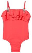 Seafolly Tutti Frutti Ruffle Swimsuit with Strawberry Crochet Trim