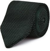 Reiss Canter - Knitted Silk Tie in Green, Mens