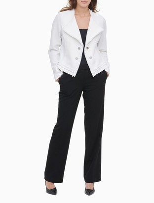 Calvin Klein Textured Knit Open Jacket