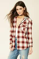 Forever 21 FOREVER 21+ Hooded Flannel Shirt