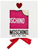 Moschino Kid-Teen Pink Jewel Branded Blanket