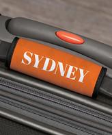 Personalized Planet Luggage Tags - Orange Geometric Personalized Luggage Handle Wrap