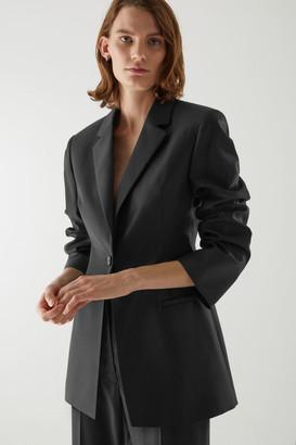Cos Wool Oversized Shoulder Blazer