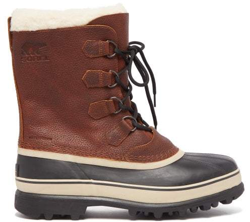 e9953f323d1 Caribou Faux Shearling Lined Snow Boots - Mens - Brown