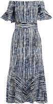 Goat Fantasy batik-striped print cotton-blend dress