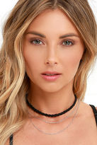LuLu*s New Trick Black and Silver Necklace Set