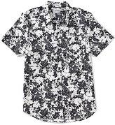 GUESS Short-Sleeve Slim-Fit Floral Slub Print Shirt