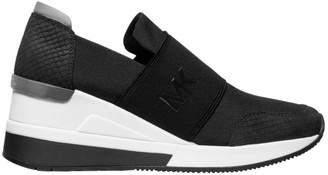 MICHAEL Michael Kors Felix Logo Leather Slip-On Sneakers