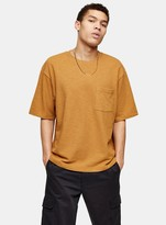 TopmanTopman Brown Boxy Pocket T-Shirt