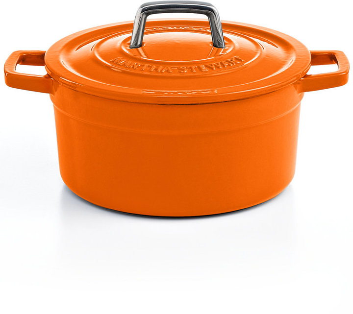 Martha Stewart Clearance Collection Collector's Enameled Cast Iron 3 Qt. Round Orange Casserole