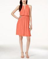 Adrianna Papell Adrianna by Chiffon Blouson Halter Dress