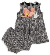 Dolce & Gabbana Baby's Two-Piece Chevron Dress & Bloomers Set