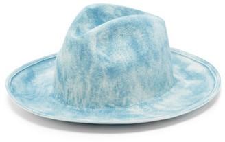 Reinhard Plank Hats - Bonica Felt Fedora Hat - Blue