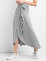 Gap Stripe wrap midi skirt