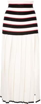Sonia Rykiel pleated striped skirt