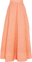Roksanda Pleated cloqué maxi skirt