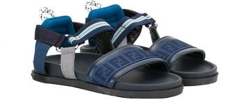 Fendi Kids FF webbing strap sandals