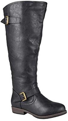 Journee Collection Spokane Boot - Extra Wide Calf (Black) Women's Shoes