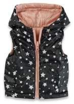 Urban Republic Reversible Hooded Vest in Pink/Black