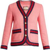 Gucci Contrast-trim cotton-blend tweed jacket