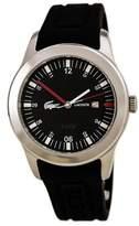 Lacoste 2010628 Men's Advantage Black Dial Black Silicone Strap Watch