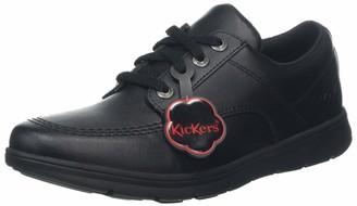Kickers Adult Unisex Kelland Lace Up Lo Black Leather Shoes