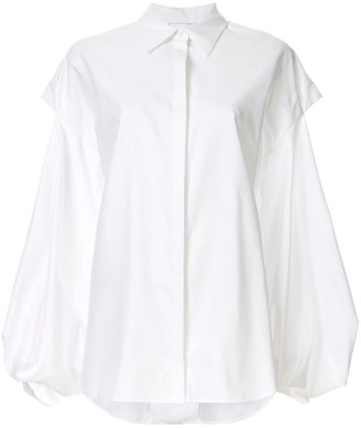 Acler Hawker layered cut-out shirt