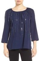 Halogen Sequin Embellished Top (Regular & Petite)