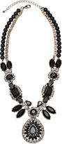 JCPenney MIXIT Mixit Black Stone & Crystal Statement Y Necklace
