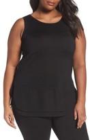 Nic+Zoe Plus Size Women's Chiffon Trim Tank