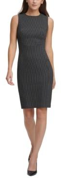 Calvin Klein Polka-Dot Sheath Dress
